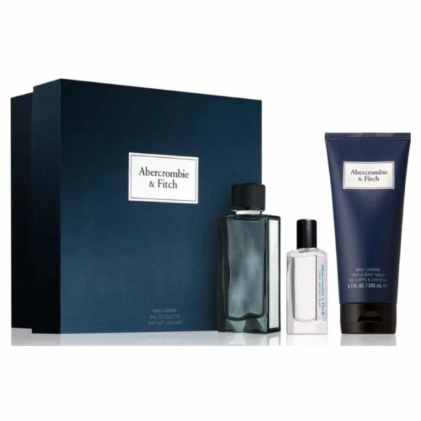 Estuche Abercrombie&Fitch First Blue Edt + Gel de Ducha 100ml + Miniatura 15ml