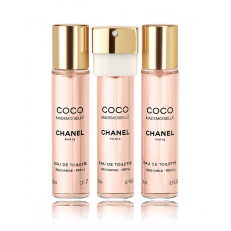 Chanel Coco Mademoiselle Edt 3 X 20 ml Recarga