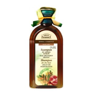 Green Pharmacy Shampoo for Dry Hair Argan Oil Pomegranate.