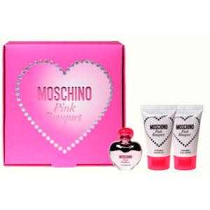Estuche Moschino Pink Bouquet Edt 5 ml + Regalo