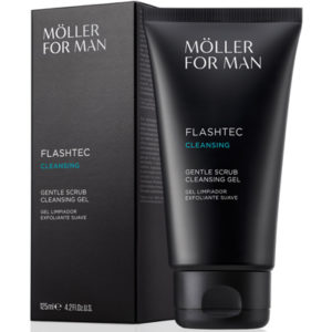 Möller for Man Flashtec 10 Segundos Gel Limpiador Exfoliante Suave 125 ml