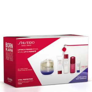 Estuche Shiseido Vital Perfection Uplifting and Firming Cream + Clarifying Cleansing Foam + Treatment Softener + Ultimune Power Infusing Concentrate + Vital Perfection Overnight Firming Treatment + Neceser