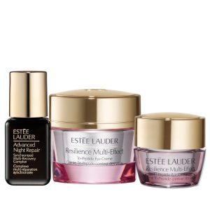 Estuche Estee Lauder Resilience Multi-Effects Eye 15ml + Miniatura 5ml + Advanced Night Repair Serum 7ml