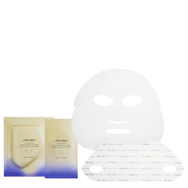 Shiseido Vital Pefection Liftdefine are individual masks that improve the facial contour and illuminate the skin. 2 masks with different functions such as: Mask1: minimizes wrinkles and evens out skin tone. Mask 2: restores the shape of the facial oval
