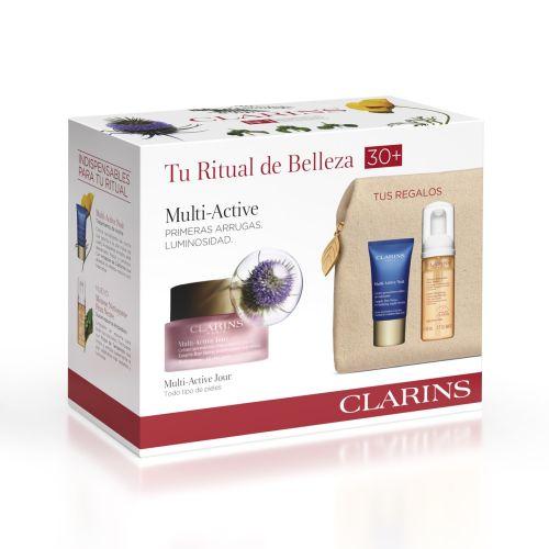 Estuche Clarins Multi Active Crema de Día Todo Tipo de Piel 50ml + Regalo